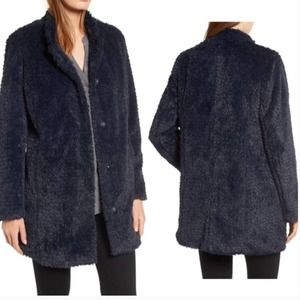 Kenneth Cole Teddy Faux-Fur Coat Size Small/P